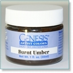 410101 - Paint :  Genesis Burnt Umber -Soon available
