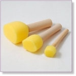 7405 - Paint Supplies : Mushroom Sponges 3 pices - Not available
