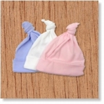 7661 - Clothing :Baby hat with single knot