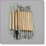 7804 - Sculpting : Clay Tool Set - Wooden & Metal 11Pc